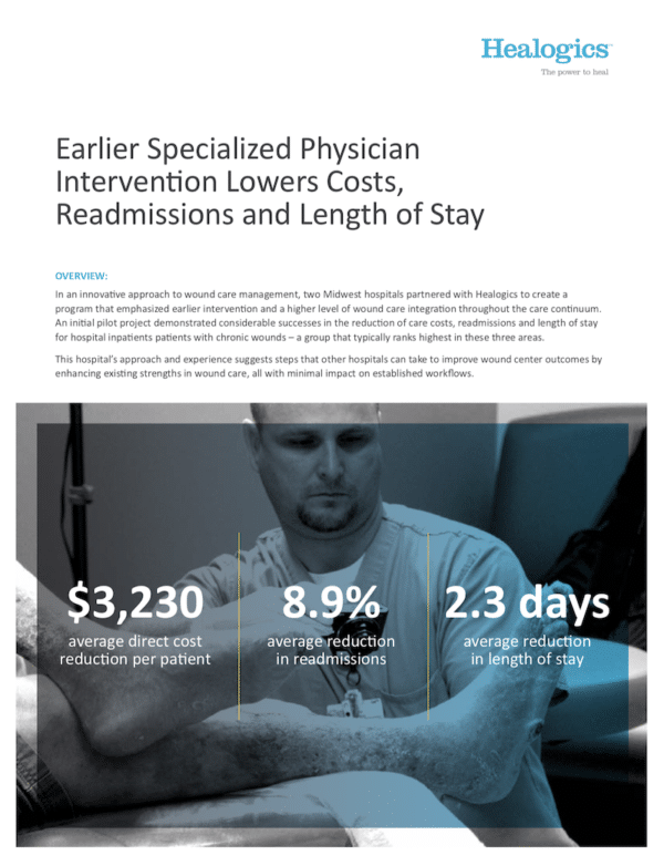 Earlier Specialized Physician Intervention Lowers Costs, Readmissions and Length of Stay