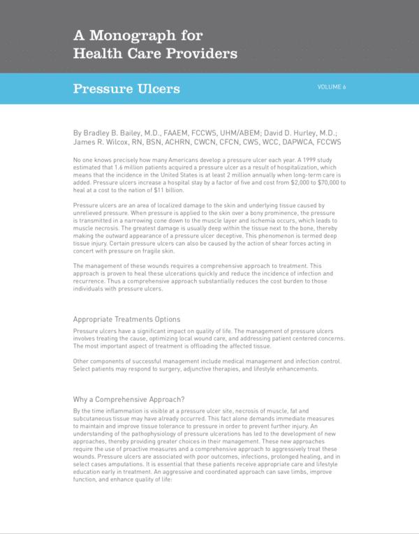 Monograph: Pressure Ulcers