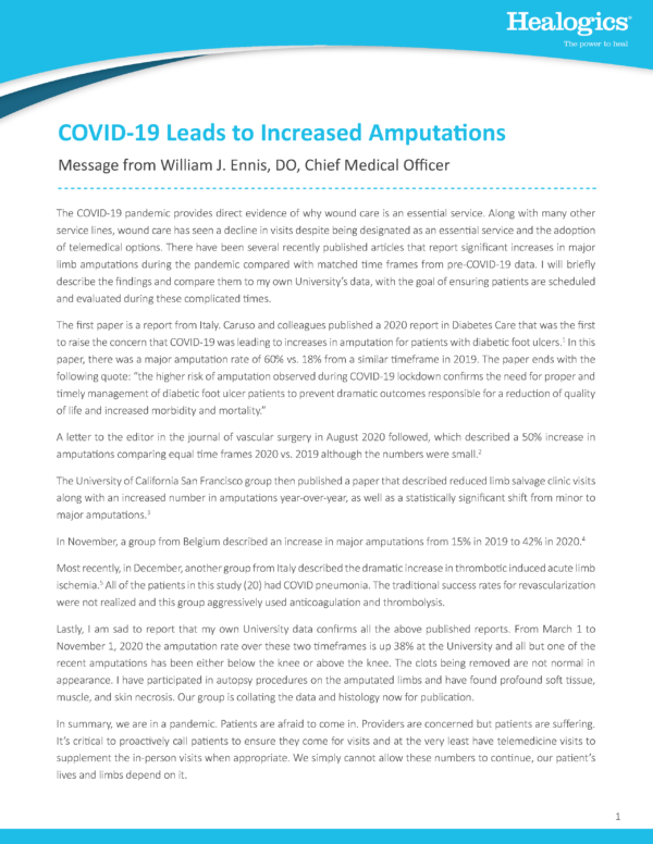 COVID-19 Leads to Increased Amputations
