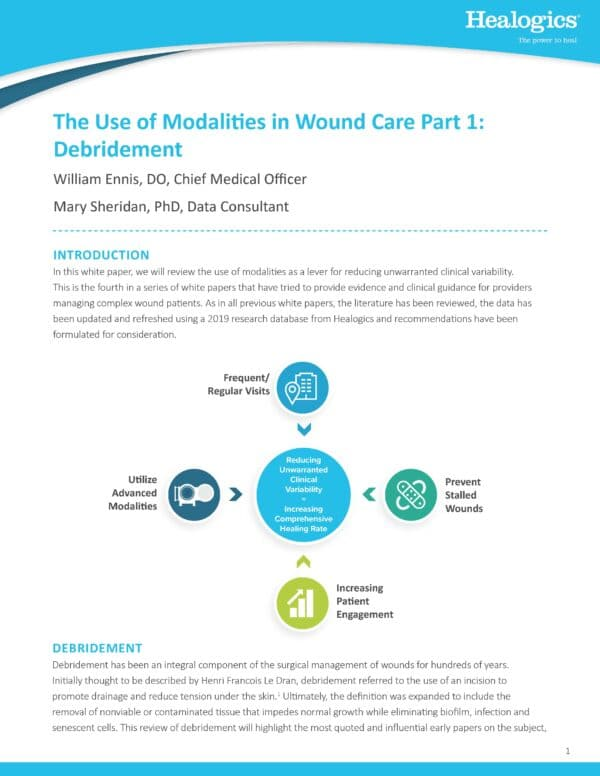 The Use of Modalities in Wound Care Part 1: Debridement